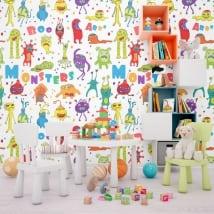 Murales de vinyle monstres d'enfants