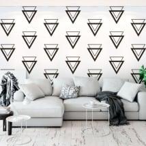 Murale vinyle avec des triangles
