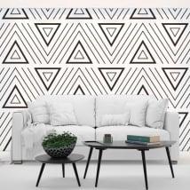 Peintures murales vinyles triangles de style rétro