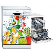 Vinyles lave-vaisselle des fruits éclaboussures d'eau