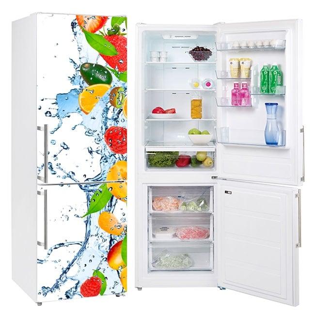 Vinyle réfrigérateurs fruits éclaboussures
