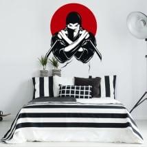 Vinyle et des autocollants silhouette de ninja