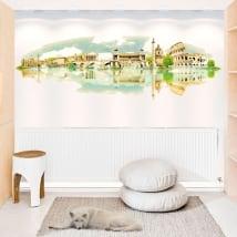 Vinyle décoratif illustration aquarelle roma