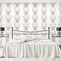 Peintures murales triangles et lignes