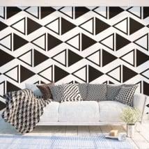 Murales de vinyle adhésif des triangles