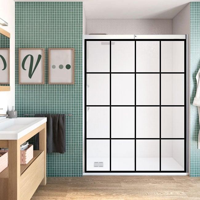 Vinyle écran de salle de bains boîtes de bordures noires