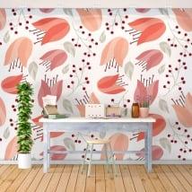Photos murales autocollants avec des fleurs pour décorer les murs