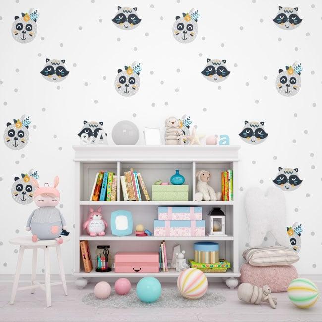 Murales ours et ratons laveurs enfants ou jeunes