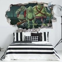 Vinyle décoratif juvénile les trolls 3d