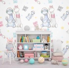 Murales enfants et jeunes les dinosaures
