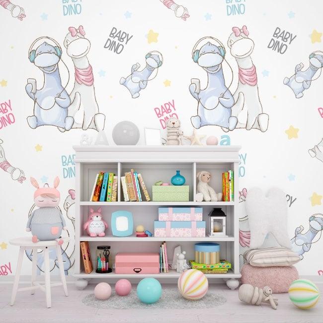 Murales pour les enfants bébés dinosaures