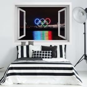 Vinyle 3d canada city vancouver jeux olympiques