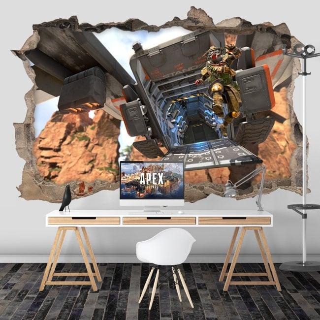 Vinyle murs apex legends 3d