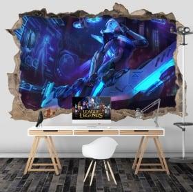 Vinyle les murs league of legends 3d