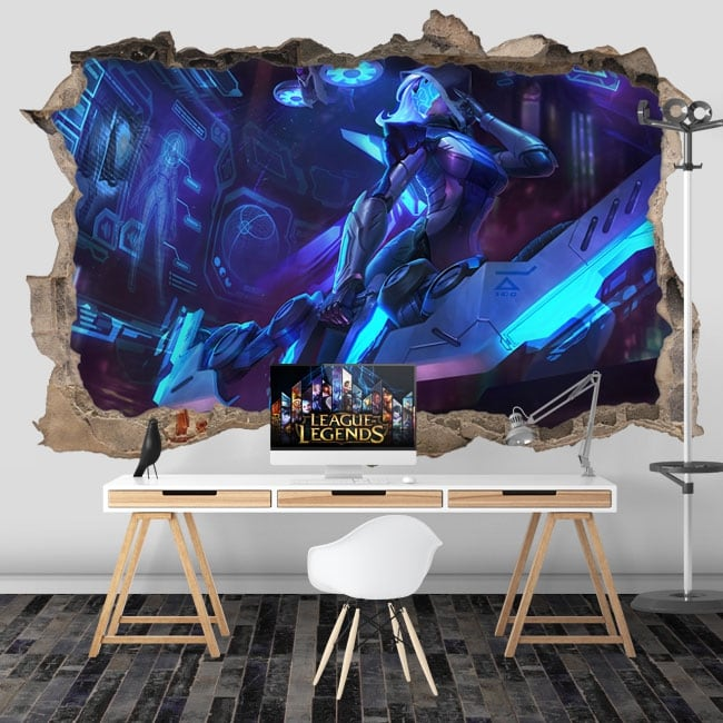 Vinyle décoratif jeux video league of legends 3d