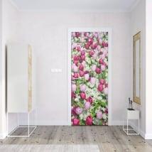 Vinyle pour portes fleurs de tulipes