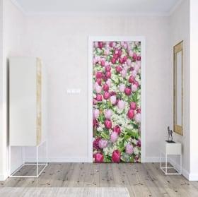 Vinyle pour portes fleurs jacinthes