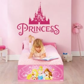 Vinyle et des autocollants princesse château de disney