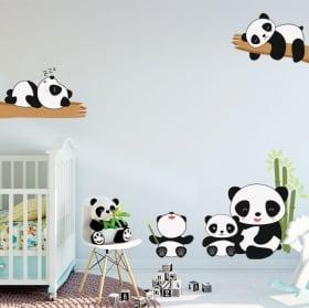 Vinyle décorer les chambres d'enfants ours panda