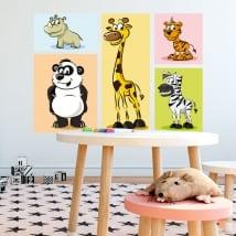 Autocollants en vinyle animaux pour enfants