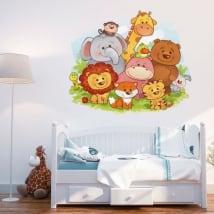 Vinyle décoratif les animaux pour les bébés