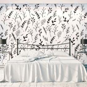 Murales de vinyle fleurs nature