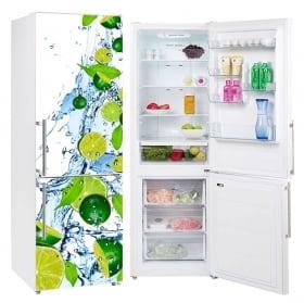 Vinyle réfrigérateurs citrons éclabousser