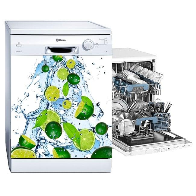Vinyle et autocollants lave vaisselle citrons éclabousser