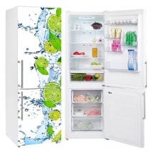 Vinyle réfrigérateurs citrons dans l'eau