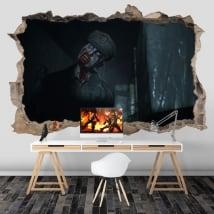 Vinyles et stickers jeux vidéo résident evil 3d