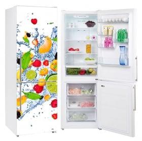 Vinyle réfrigérateurs fruits dans l'eau