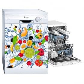 Vinyle lave vaisselle explosion de fruits