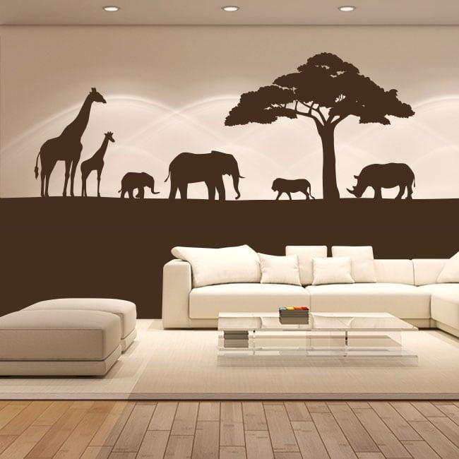 Vinyle décoratif animaux d'afrique