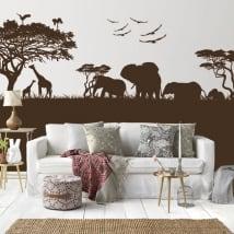 Vinyle décoratif et des autocollants des animaux en afrique
