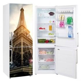 Vinyles pour réfrigérateurs tour eiffel