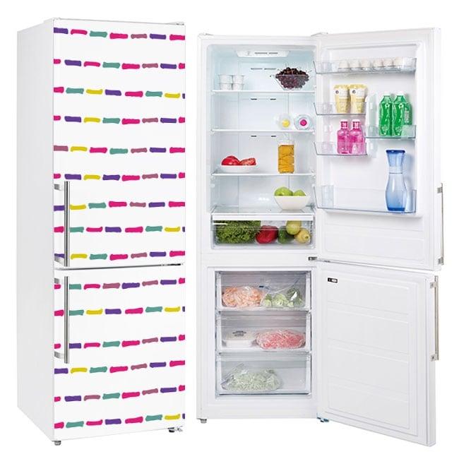 Vinyle réfrigérateurs traits colorés