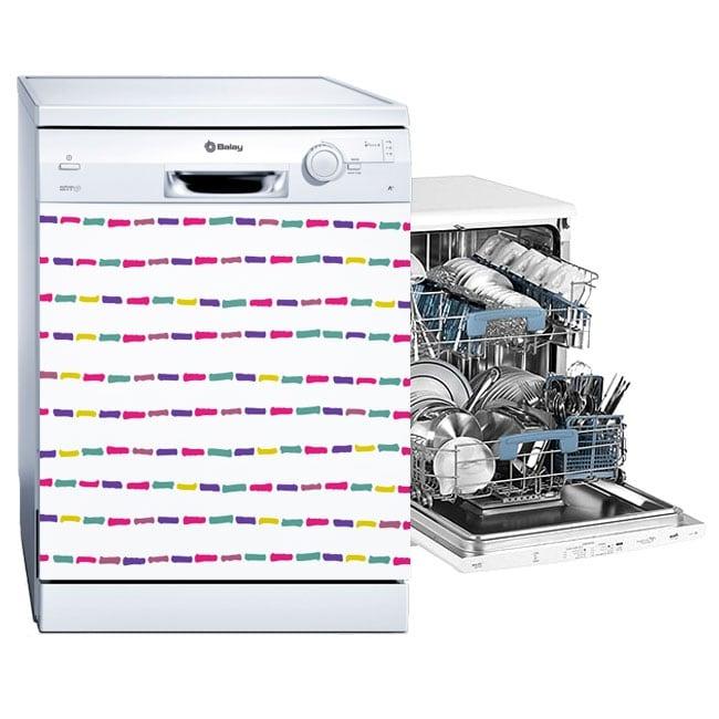 Vinyle lave vaisselle traits colorés
