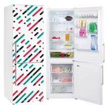 Vinyle réfrigérateurs lignes et cercles de couleurs