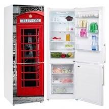 Vinyle réfrigérateurs angleterre cabine téléphonique londres