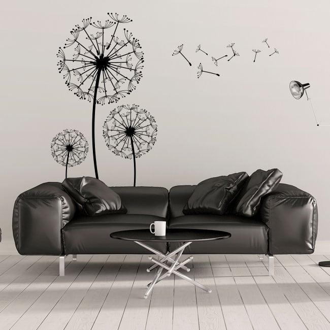 Vinyle décoratif des fleurs pissenlits