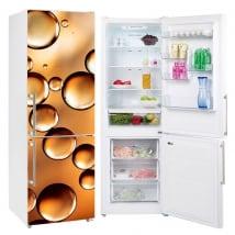 Vinyle réfrigérateurs bulles d'or