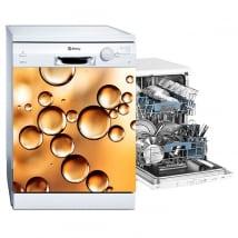 Vinyle lave vaisselle bulles d'or