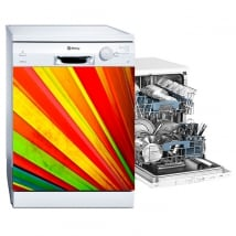 Vinyle lave vaisselle fan de couleurs