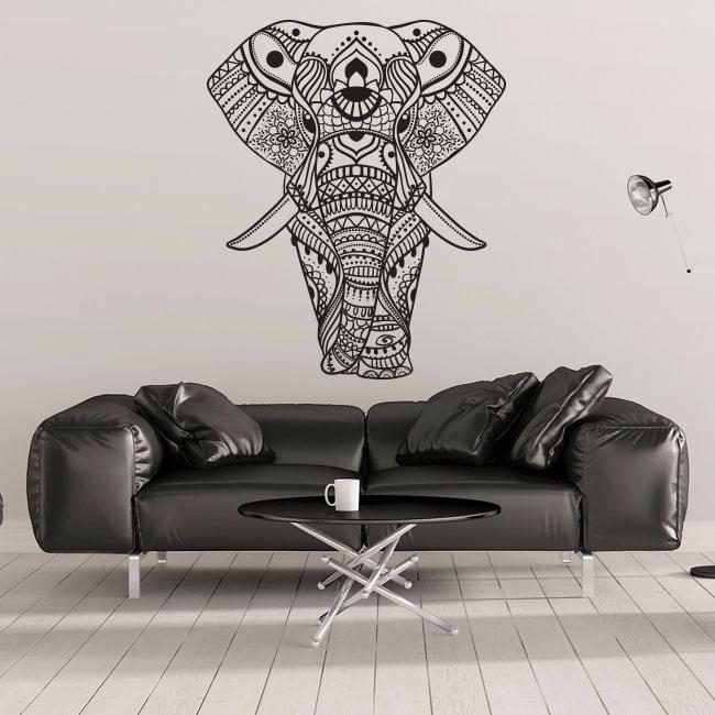 Vinyle et des autocollants éléphant tribal