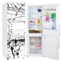 Vinyle réfrigérateurs éclaboussures de peinture noire