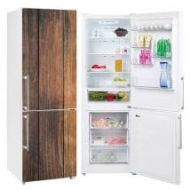 Vinyle réfrigérateurs finition bois rustique