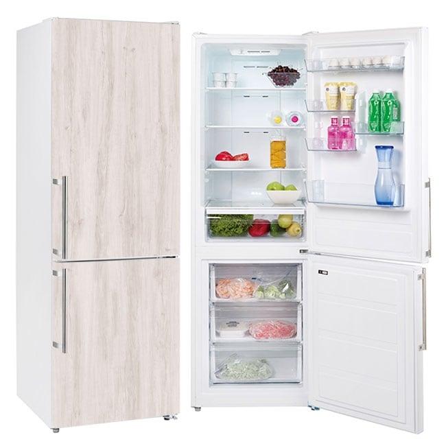 Vinyle et des autocollants réfrigérateurs finition bois
