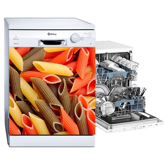 Vinyle et autocollants lave vaisselle macaronis