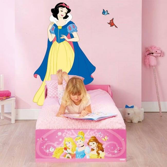 Vinyle décoratif princesse blanche neige disney