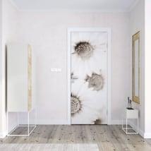 Vinyle pour portes fleurs marguerites